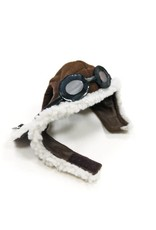 Brown Aviator Hat