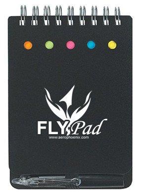 FLYPAD, NOTEBOOK W/ STICKY NOTES & PEN