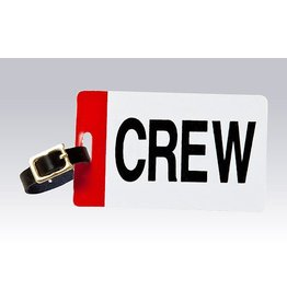 CREW Tag, Plastic with Leather Strap