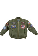 MA1 FLIGHT JACKET/GREEN W/PATCHES