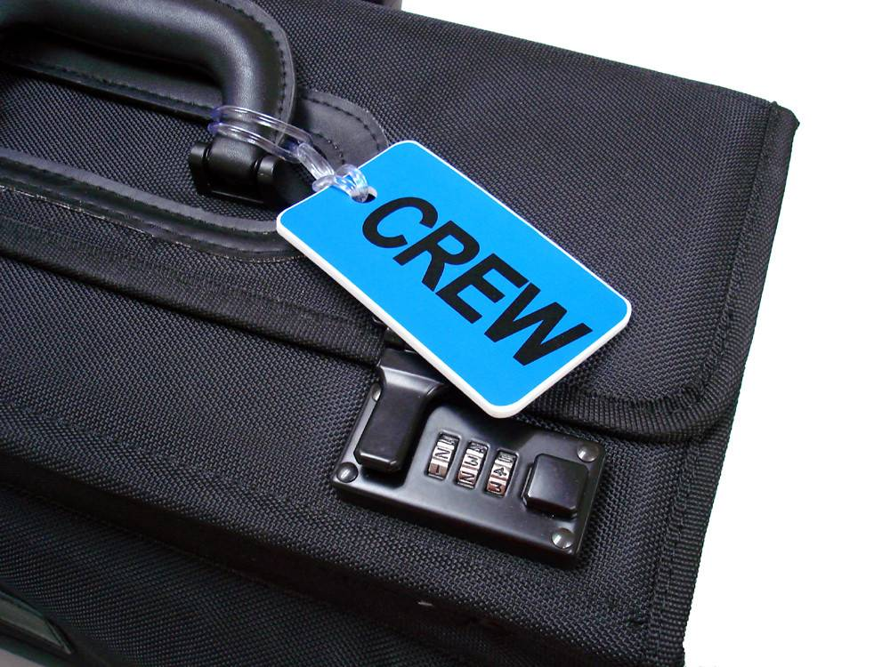 CREW Tag, Gelflex Double Sided BLUE