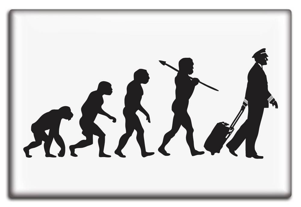 EVOLUTION OF THE PILOT Fridge Magnet