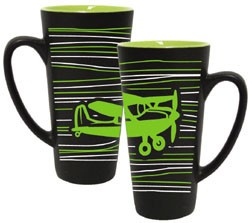 Green/Black Funnel Mug