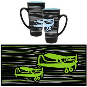 Blue/Black Funnel Mug