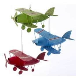 METAL BIPLANES ORNAMENT