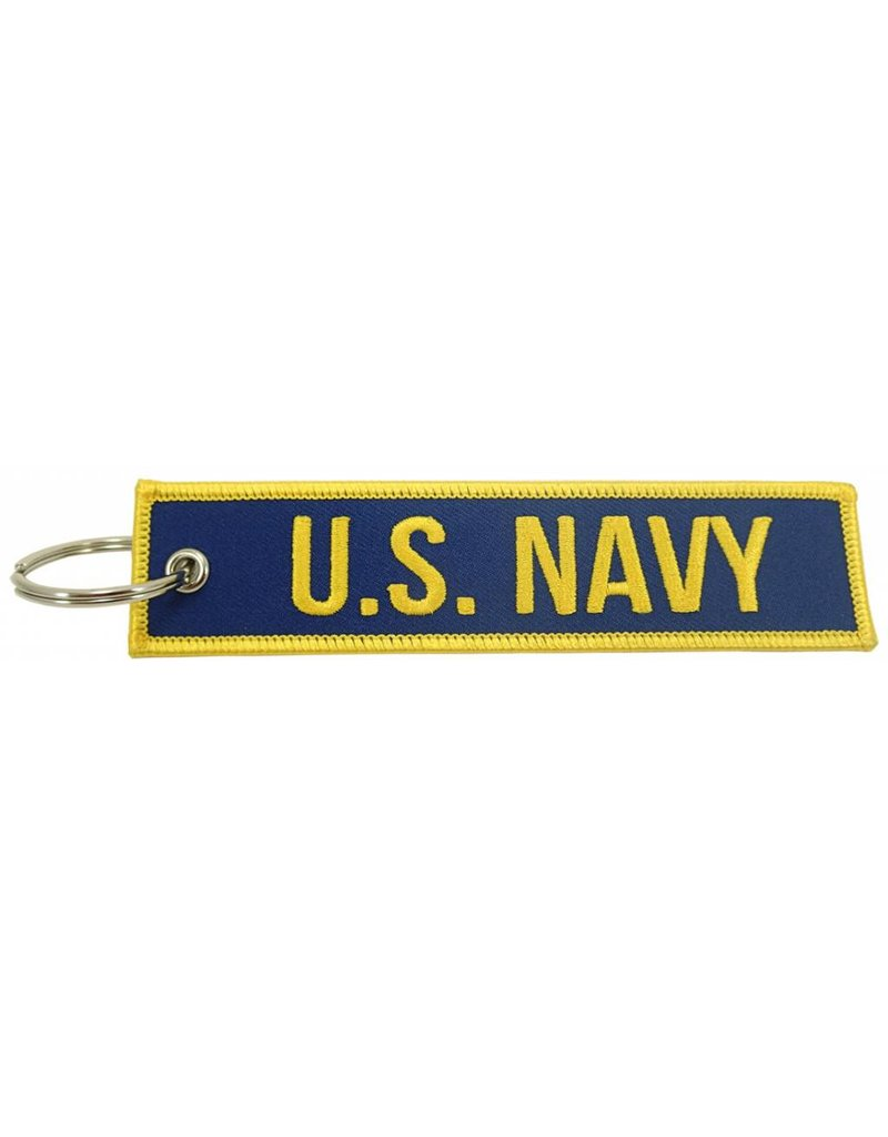 """U.S. NAVY"" EMBROIDERED KEYCHAIN"