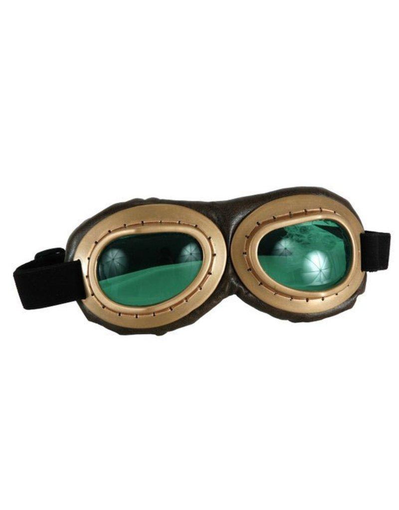 Costume Aviator Goggles (Gold/Brown/Green)