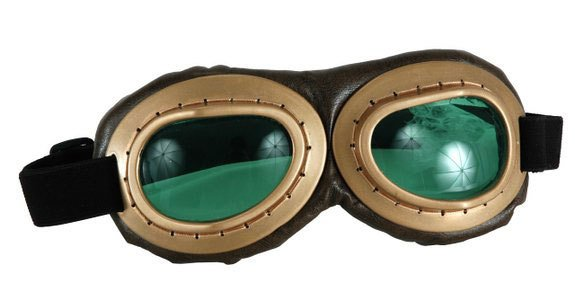 Costume Aviator Goggles (Gold/Brown/Green)
