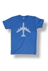 Airplane Text Fill Pilot Shirt