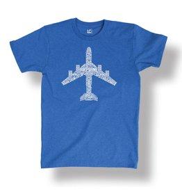 Airplane Text Fill Pilot Shirt