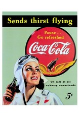 COKE GIRL TIN SIGN