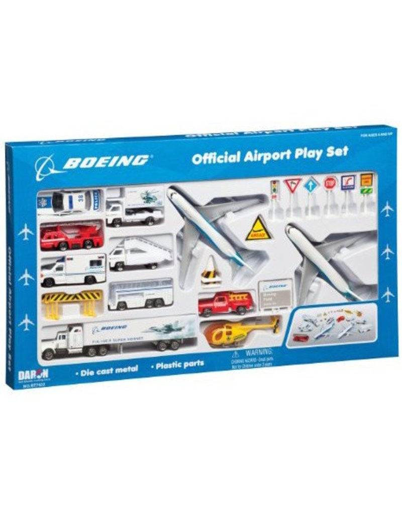 AIRPORT PLAY SET, 24 PIECE, BOEING CIV
