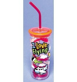 I LOVE FLYING Water Bottle