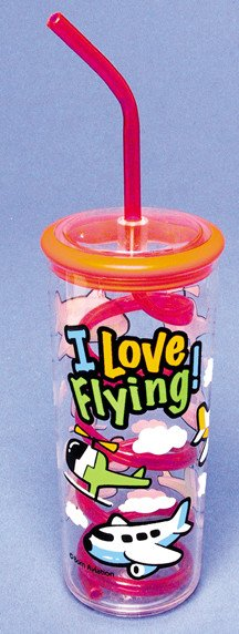I LOVE FLYING Water Bottle