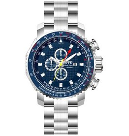 HME Mens ATC Aviator Chrono/All SS/Blue Dial