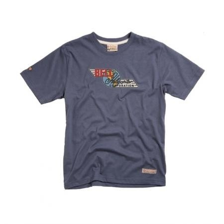 RED CANOE Bell Helicopter TShirt - Washed Blue