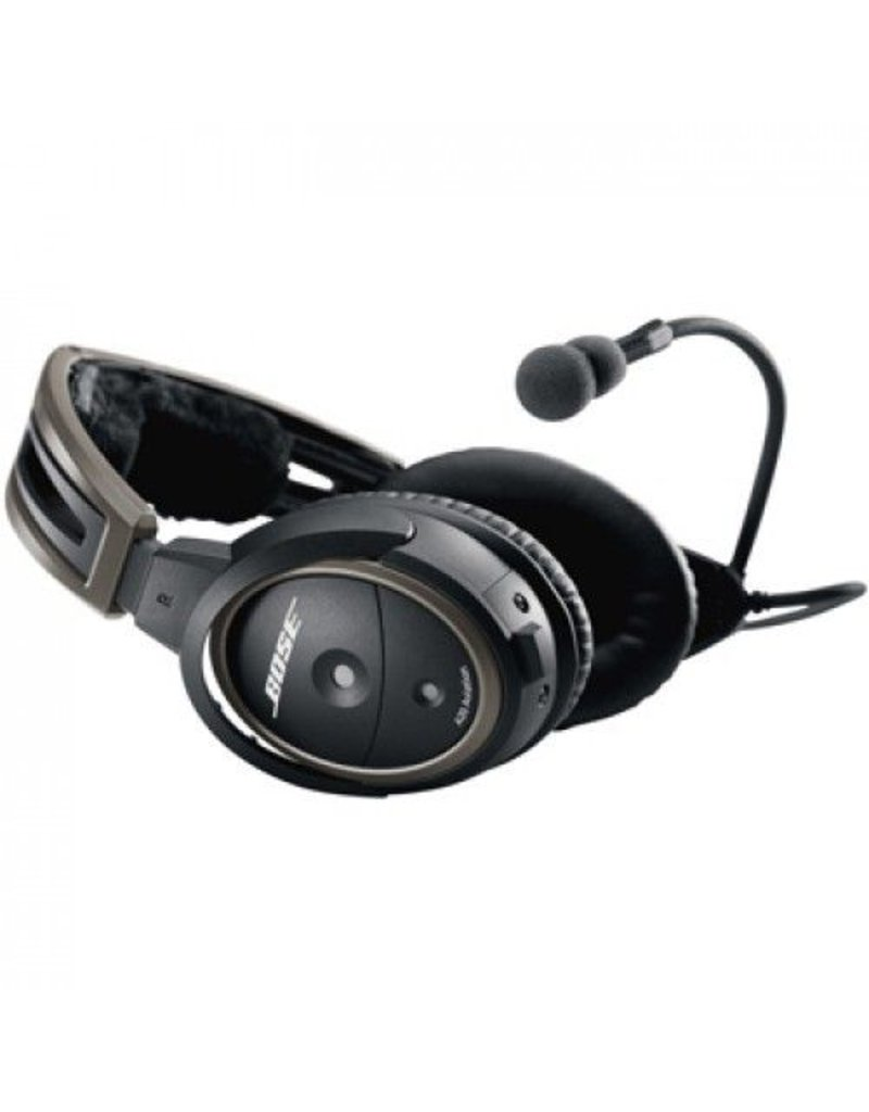 BOSE A20® Aviation Headset with Bluetooth, aircraft powered, electret microphone, straight cord, 6 pin connector