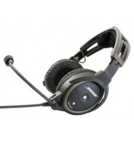 BOSE Bose® A20® Aviation Headset w/bluetooth/battery powered/electret mic/straight cord/twin plug