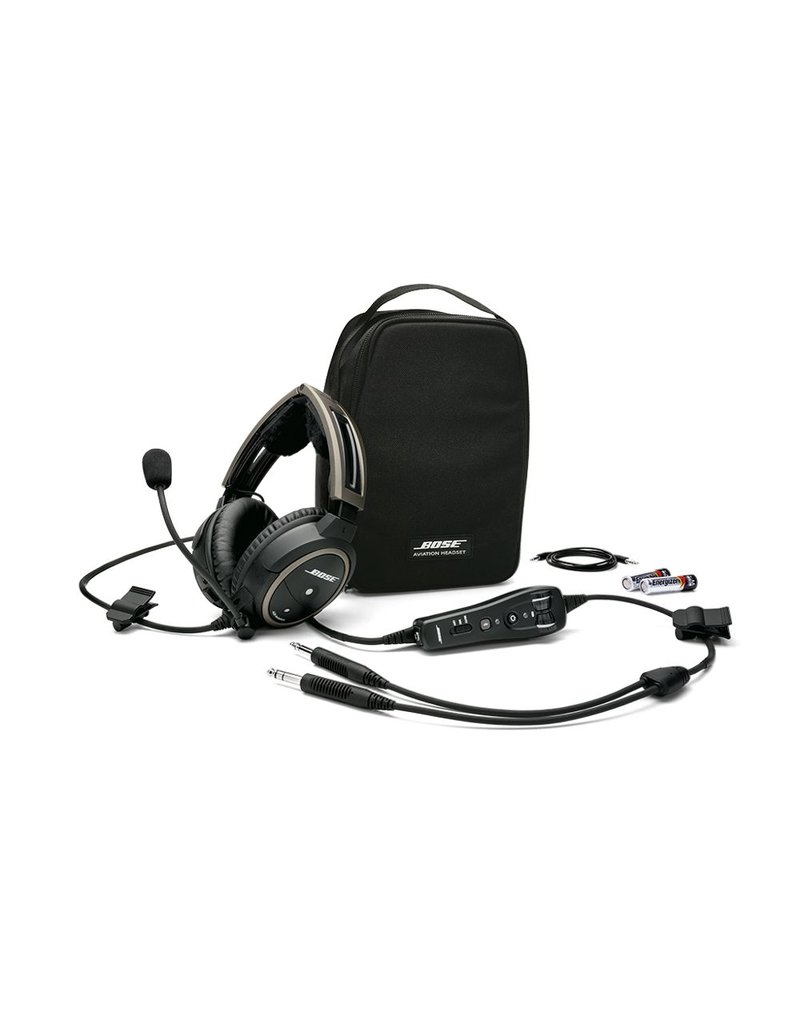 BOSE Bose® A20® Aviation Headset w/bluetooth/battery powered/electret mic/straight cord/twin plug