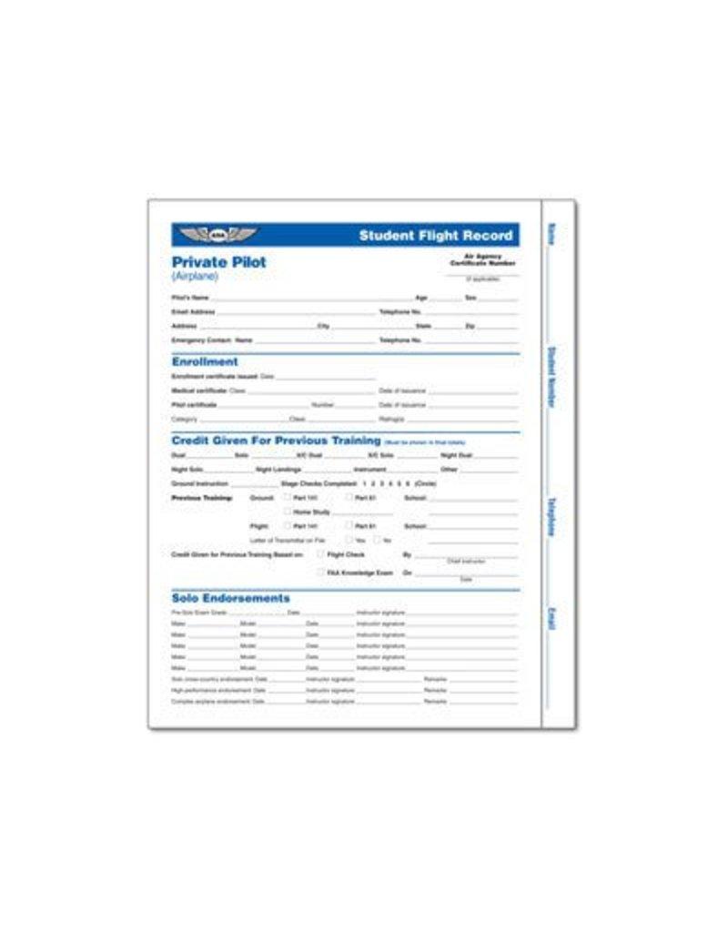 ASA Private Pilot Student Flight Record