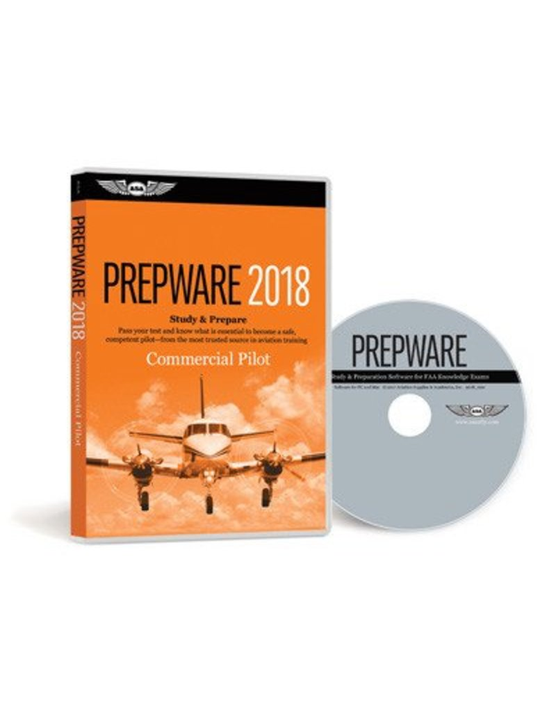 ASA Commercial Pilot Prepware 2018 Software DVD