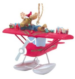 RED PLANE / MOOSE ORNAMENT