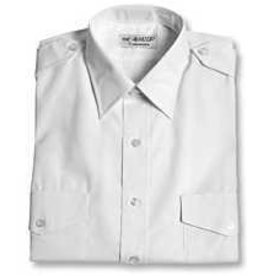 Men's Aviator Style Shirt (White / Short Sleeved)