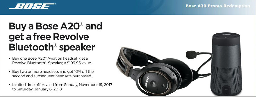 BOSE A20 HOLIDAY PROMOTION 2017