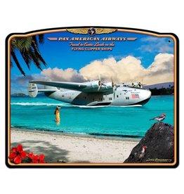 Pan American Airways Metal Sign