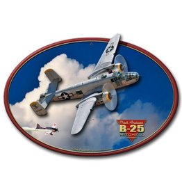 North American B-25 Mitchell Bomber Metal Sign