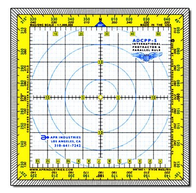 Deluxe Int'l Protractor & Parallel Rule Plotter