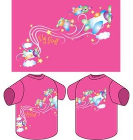 FLY GIRL Pink Youth T-Shirt