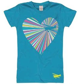HEARTSHINE AIRPLANE Youth T-Shirt.