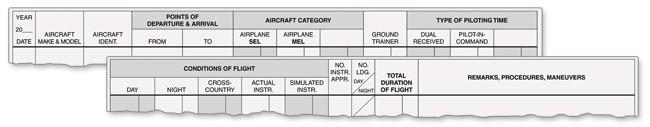 ASA ASA Standard Pilot Log