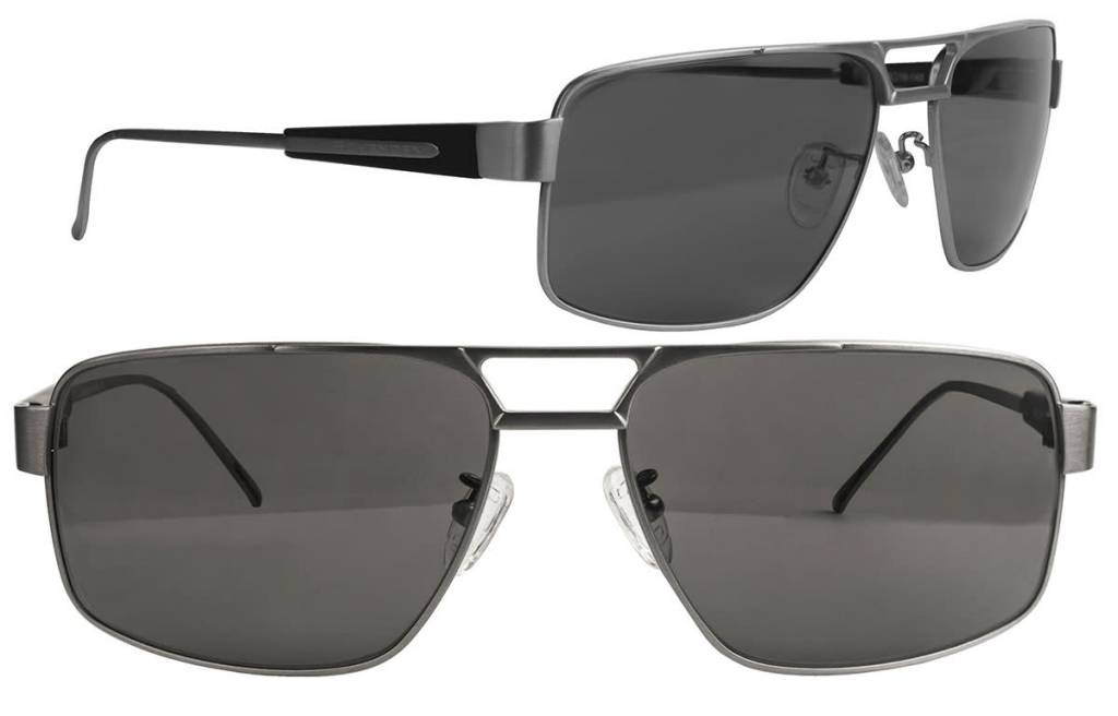 Scheyden Fixed Gear C-130 Sunglasses - Titanium with Grey Lens
