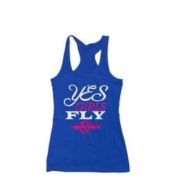 YES GIRLS FLY Tank Top, Blue