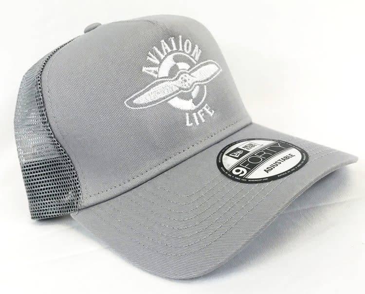 AVIATION LIFE TRUCKER HAT, GRAY