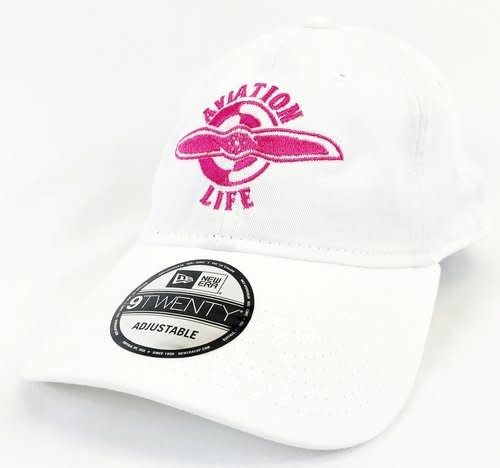 AVIATION LIFE CAP, WHITE & PINK