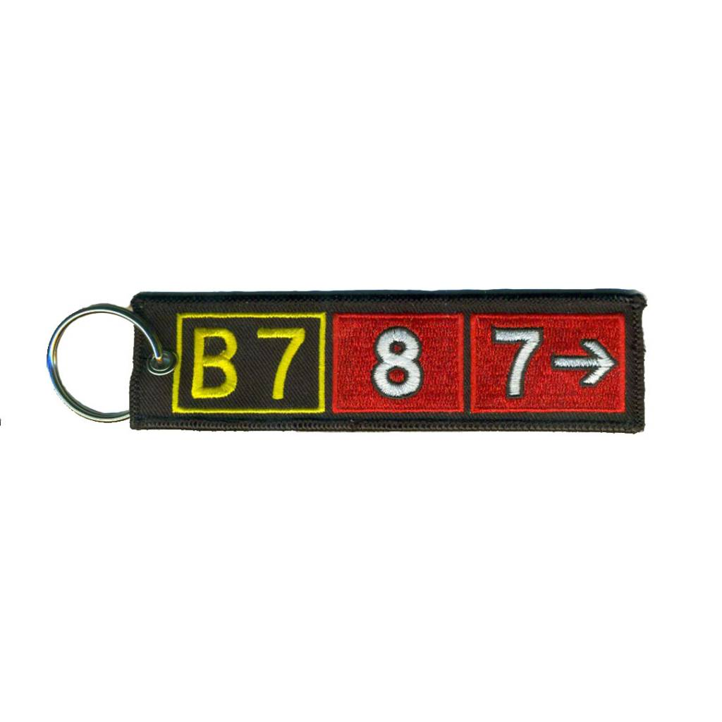 BOEING 787 Embroidered Keychain