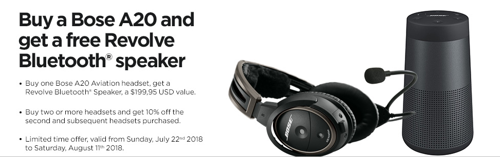 BOSE A20 Summer Promotion