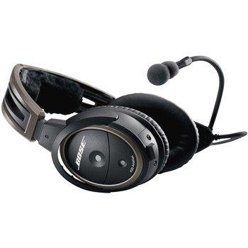BOSE Bose® A20® Aviation Headset with Bluetooth, battery powered, electret microphone, U-174 plug, coiled cord