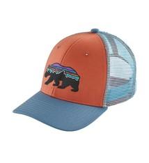 4dfe97877d8 Patagonia Kid s Trucker Hat - Fitz Roy Bear - Quartz Coral