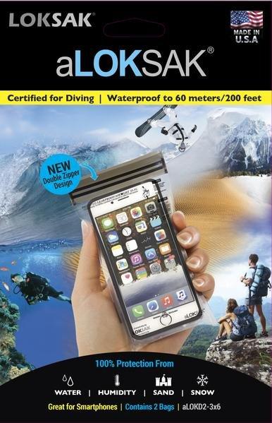 Loksak Waterproof Bag 3.37 x 6.37 2 Pack