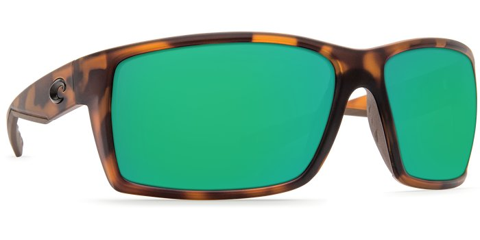 Costa Del Mar Costa Reefton - Matte Retro Tortoise Frame - Green Mirror 580G  Lens