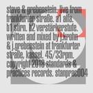 Stave & Grebenstein - Live From Frankfurter Stasse LP