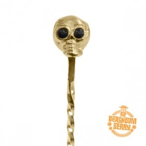 Miscellaneous Beach Bum Berry Skull Barspoon 33cm (Gold Plated)