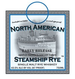 Rye Whiskey Quincy Street Distillery North American Steamship Rye Small Cask Release Single Malt Rye Whiskey 750ml