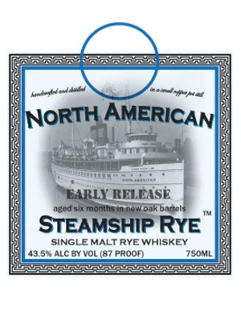 Rye Whiskey Quincy Street Distillery North American Steamship Rye Small Cask Release Single Malt Rye Whiskey 750ml