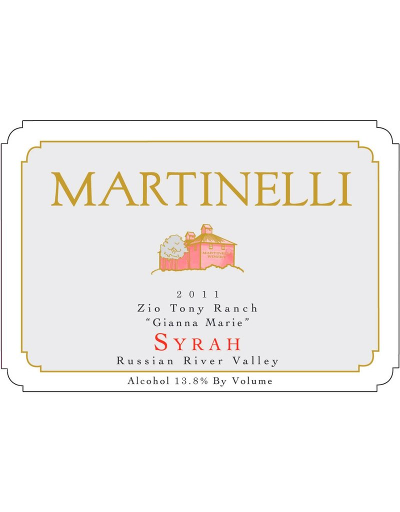 "American Wine Martinelli Syrah ""Gianna Marie"" Zio Tony Ranch Russian River Valley 2006 750ml"