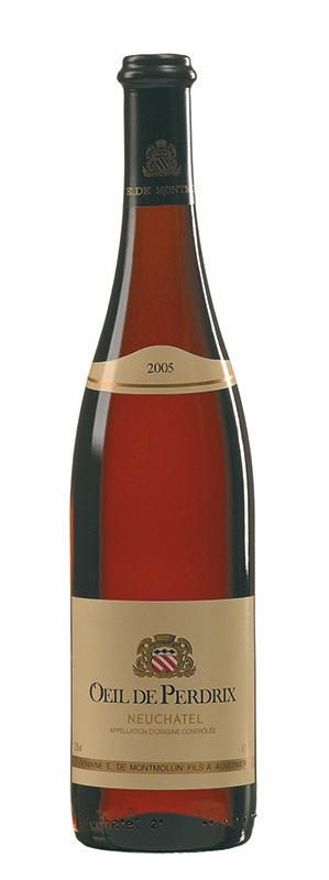 Swiss Wine Domaine de Montmollin Oeil de Perdrix Neuchatel Rosé Switzerland 2017 750ml